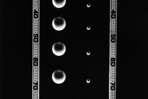 Falling Balls of Unequal Mass, 1958-61, © Berenice Abbott/Commerce Graphics/Getty Images. Courtesy of Howard Greenberg Gallery, New York