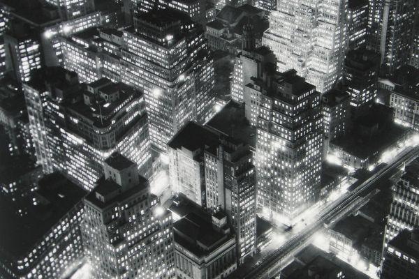 Nightview, New York, 1932, © Berenice Abbott/Commerce Graphics/Getty Images. Courtesy of Howard Greenberg Gallery, New York